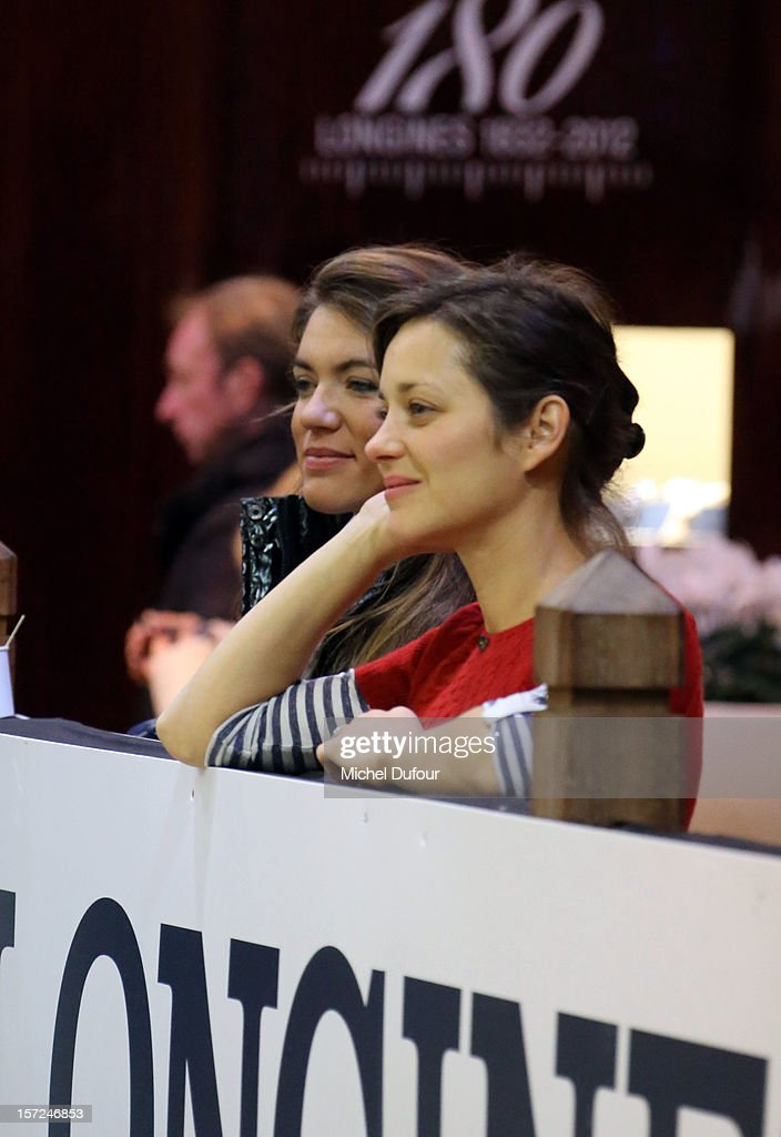Marion Cotillard attends the Gucci Paris Masters 2012 at Paris Nord Villepinte on November 30, 2012 in Paris, France.