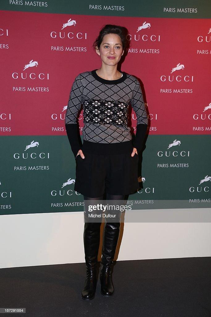 Marion Cotillard attends the Gucci Paris Masters 2012 at Paris Nord Villepinte on December 1, 2012 in Paris, France.