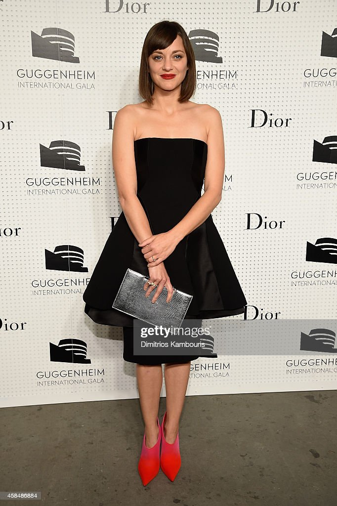<a gi-track='captionPersonalityLinkClicked' href=/galleries/search?phrase=Marion+Cotillard&family=editorial&specificpeople=215303 ng-click='$event.stopPropagation()'>Marion Cotillard</a> attends the Guggenheim International Gala Pre-Party made possible by Dior on November 5, 2014 in New York City.