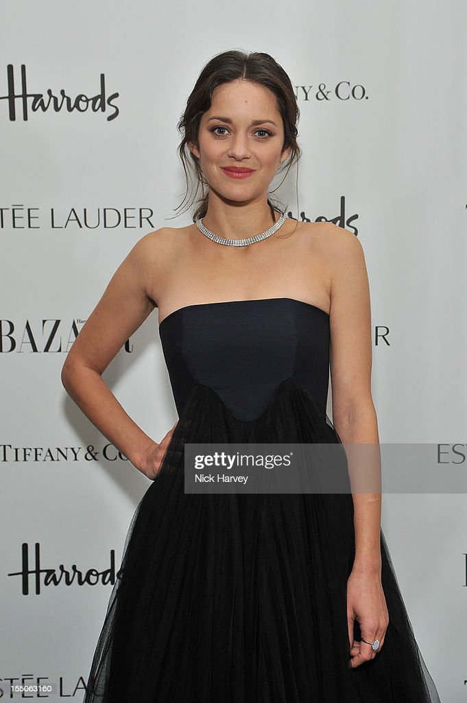 Marion Cotillard attends the Harper's Bazaar Woman of the Year Awards at Claridge's Hotel on October 31, 2012 in London, England.