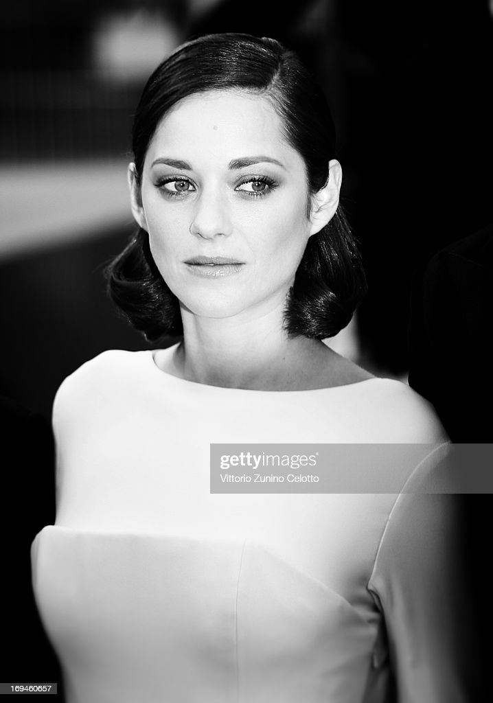 <a gi-track='captionPersonalityLinkClicked' href=/galleries/search?phrase=Marion+Cotillard&family=editorial&specificpeople=215303 ng-click='$event.stopPropagation()'>Marion Cotillard</a> attends 'The Immigrant' Premiere during the 66th Annual Cannes Film Festival on May 24, 2013 in Cannes, France.