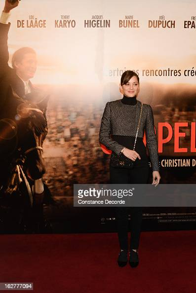 Marion Cotillard attends the 'Jappeloup' premiere at Le Grand Rex on February 26 2013 in Paris France
