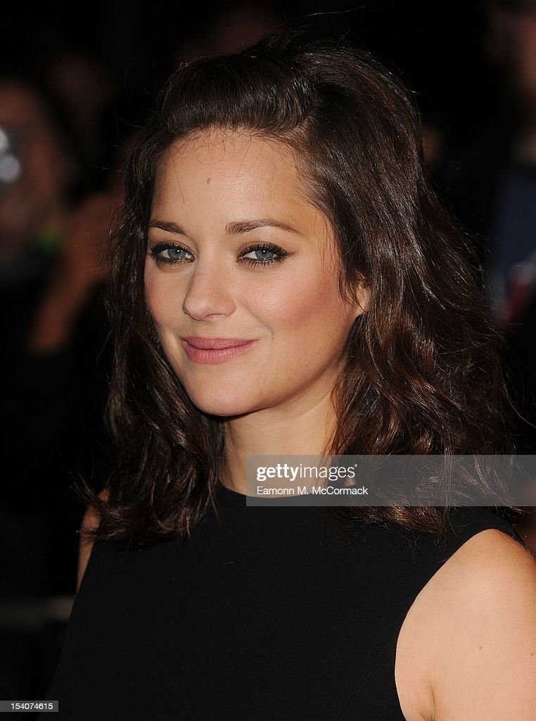 Marion Cotillard attends the premiere of 'Rust and Bone' during the 56th BFI London Film Festival at Odeon West End on October 13, 2012 in London, England.