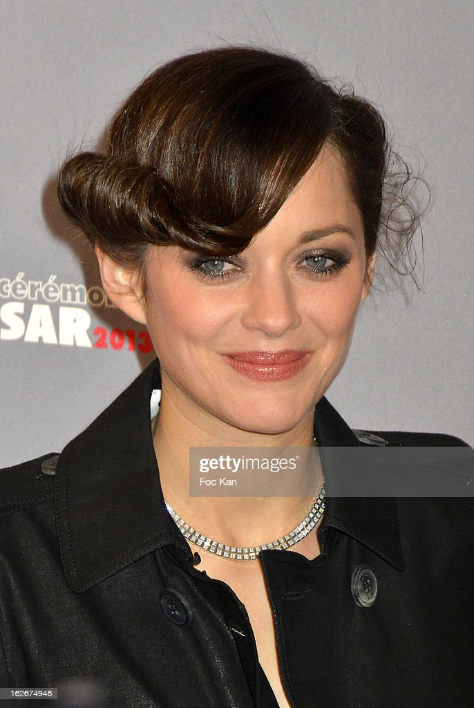 Marion Cotillard attends the Red Carpet Arrivals - Cesar Film Awards 2013 at Theatre du Chatelet on February 22, 2013 in Paris, France.