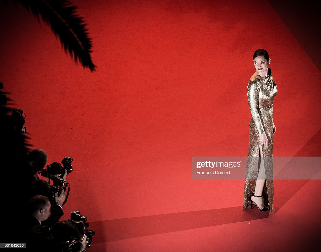 Marion Cotillard attends the screening of 'From The Land And The Moon (Mal De Pierres)' at the annual 69th Cannes Film Festival at Palais des Festivals on May 15, 2016 in Cannes, France.