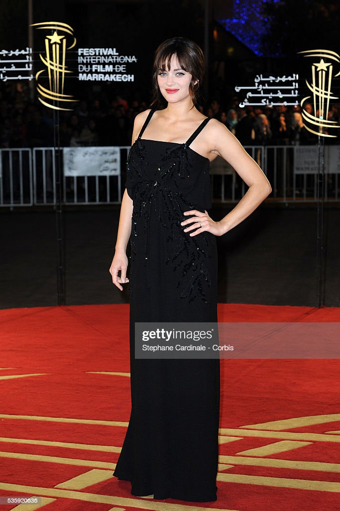 Marion Cotillard attends the Tribute to French Cinema during the Marrakech 10th Film Festival.