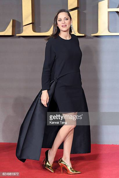 Marion Cotillard attends the UK Premiere of 'Allied' at Odeon Leicester Square on November 21 2016 in London England