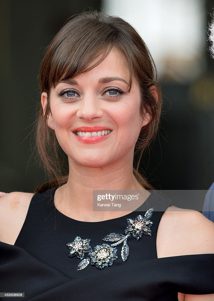 <a gi-track='captionPersonalityLinkClicked' href=/galleries/search?phrase=Marion+Cotillard&family=editorial&specificpeople=215303 ng-click='$event.stopPropagation()'>Marion Cotillard</a> attends the UK Premiere of 'Two Days, One Night' at Somerset House on August 7, 2014 in London, England.