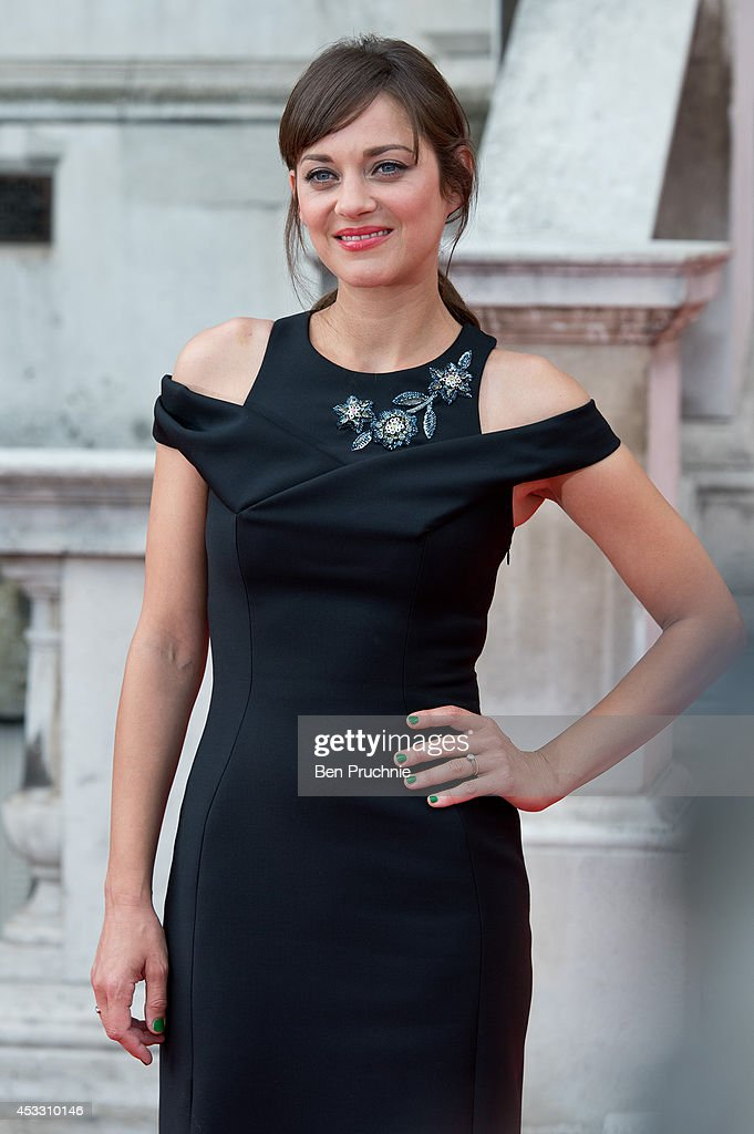 Marion Cotillard attends the UK Premiere of 'Two Days, One Night' at Somerset House on August 7, 2014 in London, England.