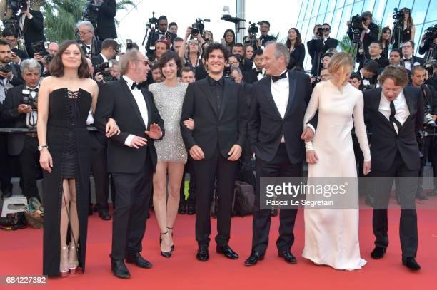 Marion Cotillard director Arnaud Desplechin Charlotte Gainsbourg Louis Garrel Hippolyte Girardot Alba Rohrwacher and Mathieu Amalric attend the...