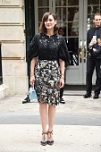 Marion Cotillard is seen arriving at Dior Fashion show during Paris Fashion Week Haute Couture F/W 20162017 on July 4 2016 in Paris France