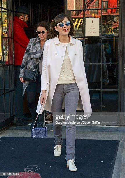 Marion Cotillard is seen in New York City on January 05 2015 in New York City