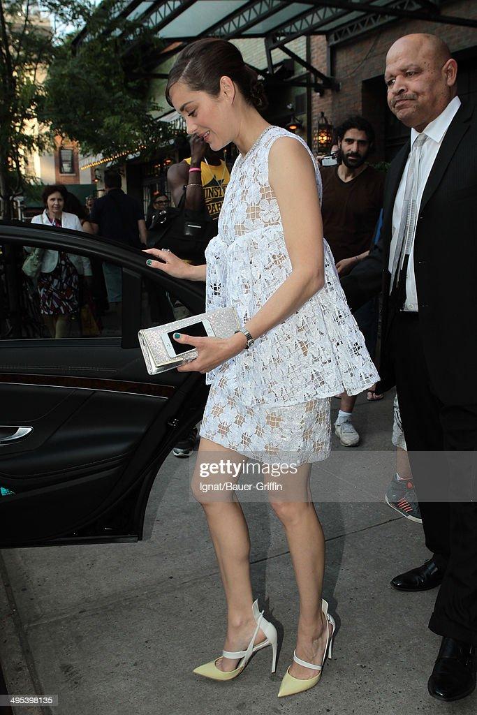Marion Cotillard is seen on June 02, 2014 in New York City.