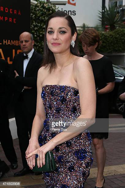 Marion Cotillard leaves the Majestic Hotel to attend the Premiere of Macbeth during the 68th annual Cannes Film Festival on May 23 2015 in Cannes...
