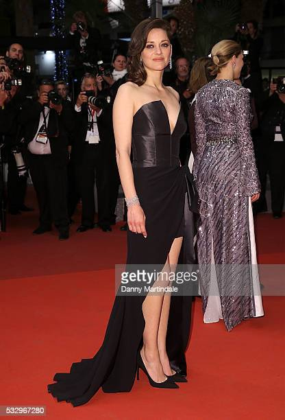 Marion Cotillard leaves the screening of 'It's Only The End Of The World ' at the annual 69th Cannes Film Festival at Palais des Festivals on May 19...