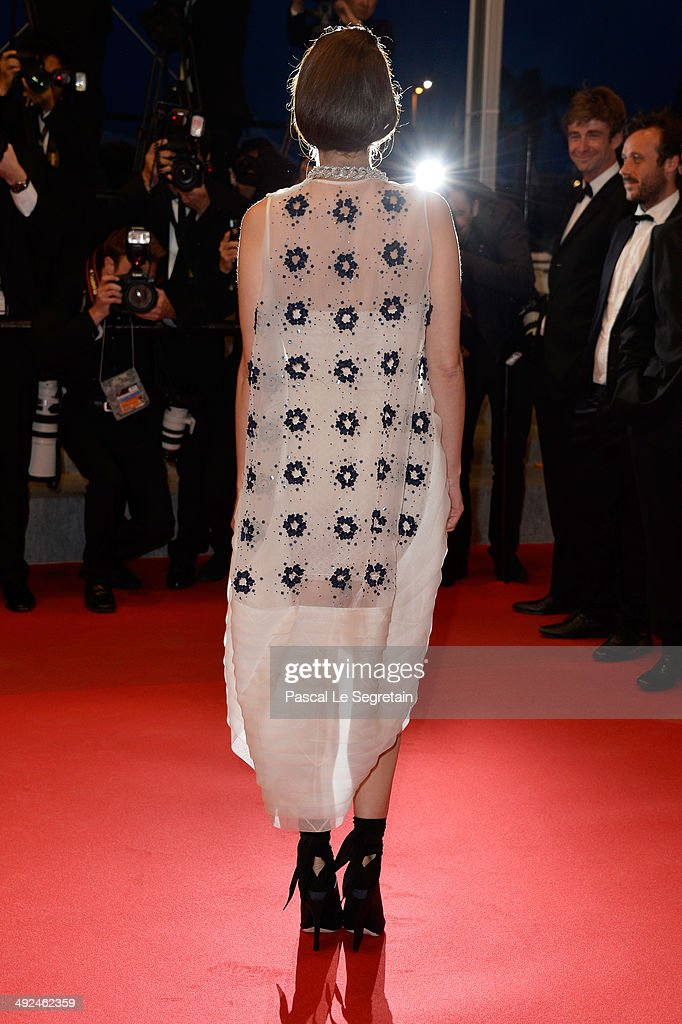 <a gi-track='captionPersonalityLinkClicked' href=/galleries/search?phrase=Marion+Cotillard&family=editorial&specificpeople=215303 ng-click='$event.stopPropagation()'>Marion Cotillard</a> leaves the 'Two Days, One Night' (Deux Jours, Une Nuit) premiere during the 67th Annual Cannes Film Festival on May 20, 2014 in Cannes, France.