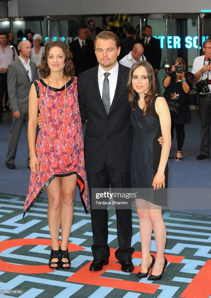¿Cuánto mide Ellen Page? (Elliot Page) - Altura - Real height Marion-cotillard-leonardo-dicaprio-and-ellen-page-attend-the-world-picture-id102716782