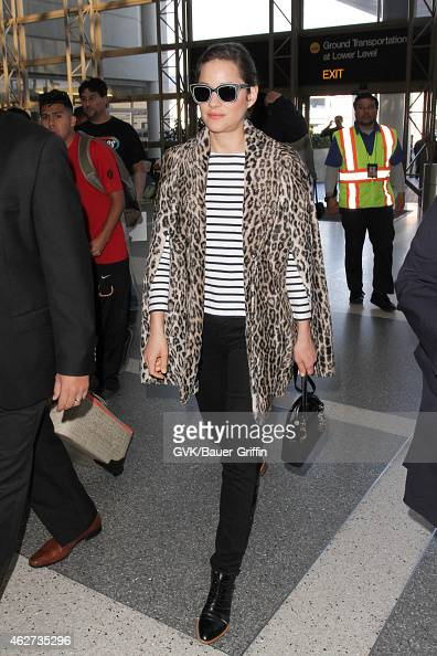 Marion Cotillard seen at LAX on February 03 2015 in Los Angeles California