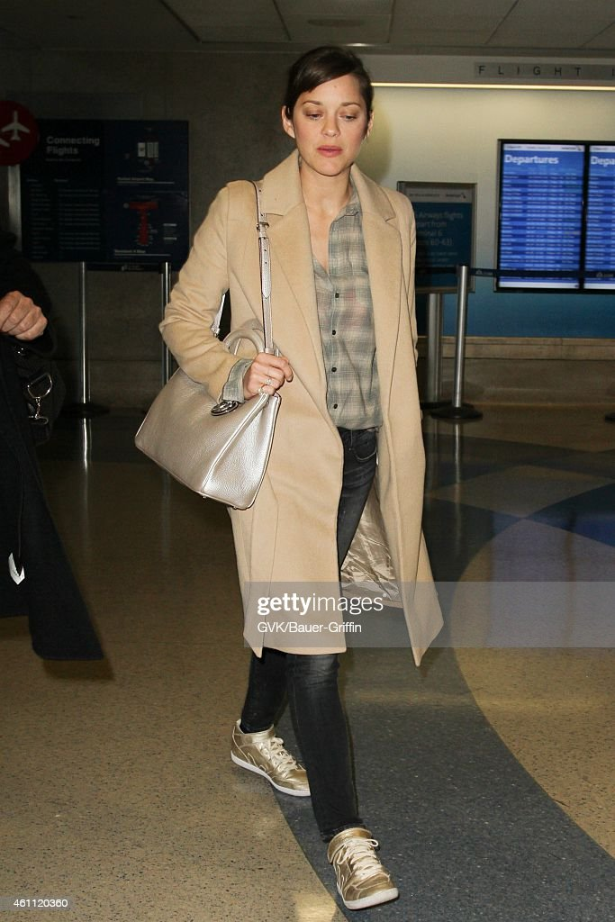 Marion Cotillard seen at LAX on January 06 2015 in Los Angeles California