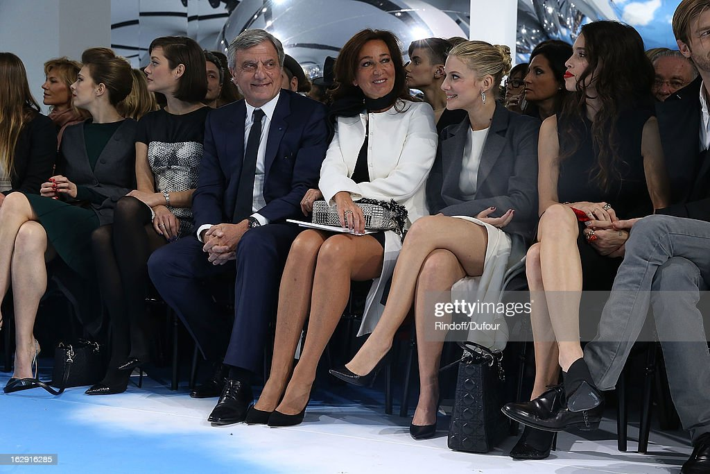 Marion Cotillard, Sidney Toledano, Katya Toledano, Melanie Laurent and Chelsea Tyler attend the Christian Dior Fall/Winter 2013 Ready-to-Wear show as part of Paris Fashion Week on March 1, 2013 in Paris, France.