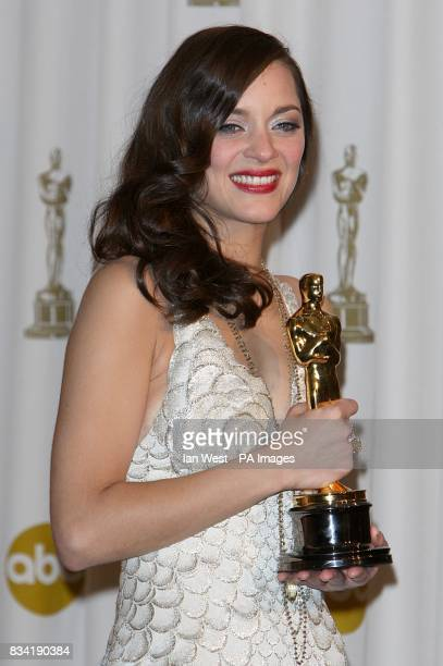 Marion Cotillard with the award for Best Actress in a Leading Role received for La Vie En Rose at the 80th Academy Awards held at the Kodak Theater...