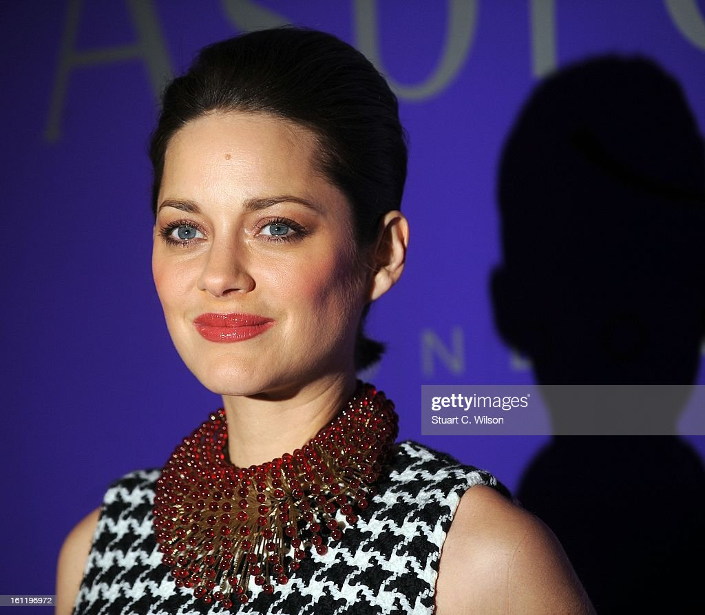 Marion Cottilard attends the EE British Academy Film Awards nominees party at Asprey London on February 9, 2013 in London, England.