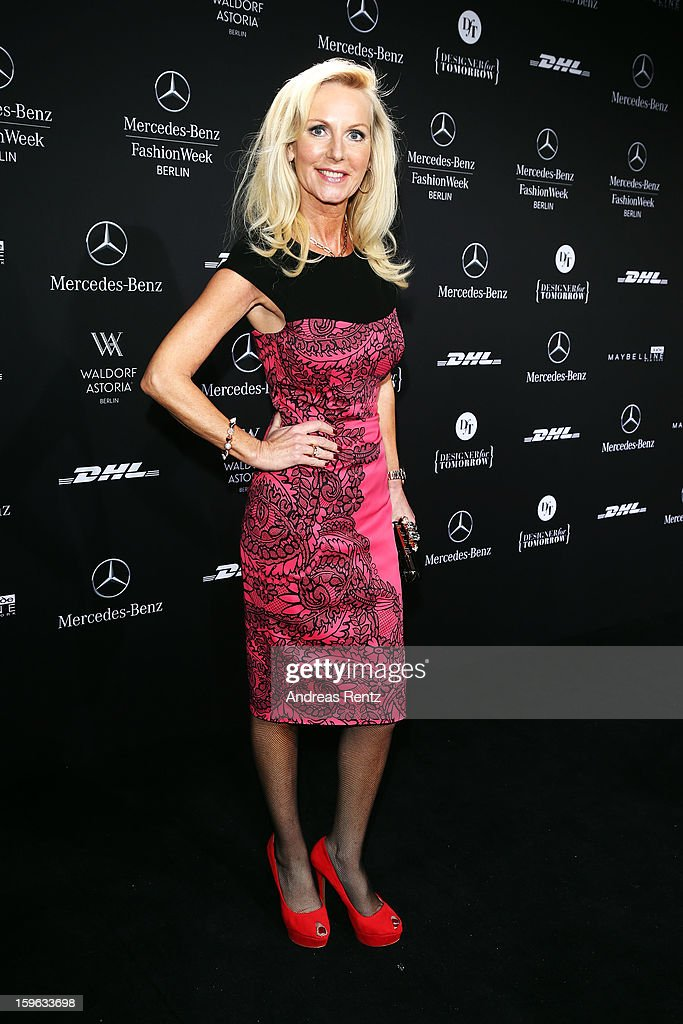 Marion Fedder attends Guido Maria Kretschmer Autumn/Winter 2013/14 fashion show during Mercedes-Benz Fashion Week Berlin at Brandenburg Gate on January 17, 2013 in Berlin, Germany.