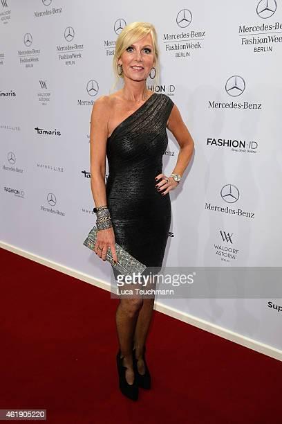Marion Fedder attends the Guido Maria Kretschmer show during the MercedesBenz Fashion Week Berlin Autumn/Winter 2015/16 at Brandenburg Gate on...