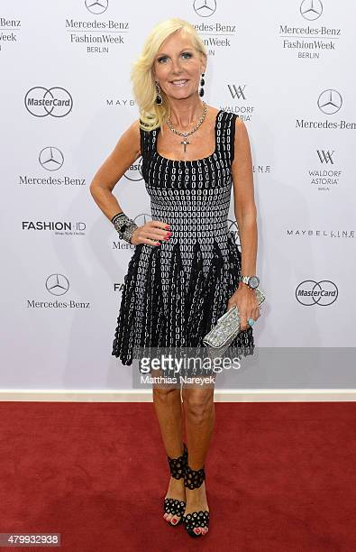 Marion Fedder attends the Guido Maria Kretschmer show during the MercedesBenz Fashion Week Berlin Spring/Summer 2016 at Brandenburg Gate on July 8...