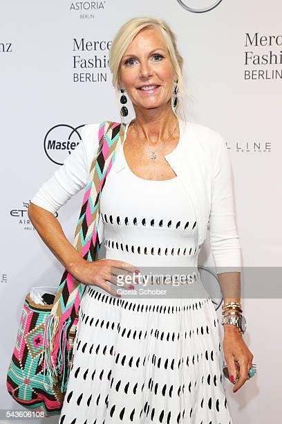 Marion Fedder attends the Minx by Eva Lutz show during the MercedesBenz Fashion Week Berlin Spring/Summer 2017 at Erika Hess Eisstadion on June 29...