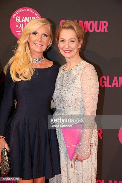 Marion Fedder Editor in chief of Glamour Andrea Ketterer during the Glammy Award 2015 at Schlafwagenfabrik on March 5 2015 in Munich Germany