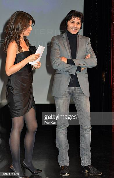 Marion Jolles and Jean Luc Lahaye attend The 'Paris Nuit 2012' Les Trophees De La Nuit Night Clubbing Awards Ceremony at the Lido on November 26 2012...