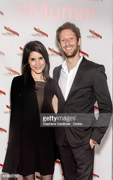 Marion Jolles Grosjean and husband Romain Grosjean attend the Mumm Grand Cordon Party At The YoYo Club after the 2016 FIA Formula E Championship...