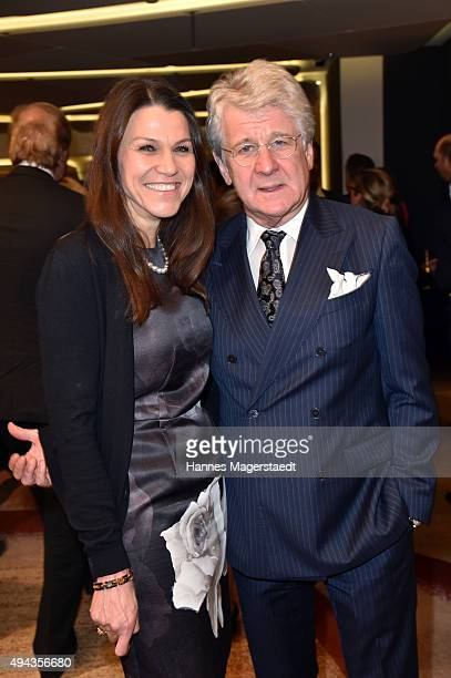 Marion Kiechle and Marcel Reif attend the Felix Friends for Kids charity gala at Hotel Vier Jahreszeiten on October 26 2015 in Munich Germany