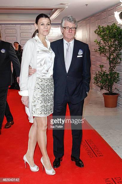 Marion Kiechle and Marcel Reif attend the German Media Award 2015 on January 23 2015 in BadenBaden Germany