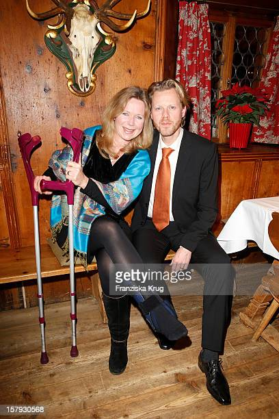 Marion Kracht after accident and Berthold Manns attend the Tirol Cross Mountain Gala Dinner at Kuehtai Castle on December 07 in Kuehtai Austria