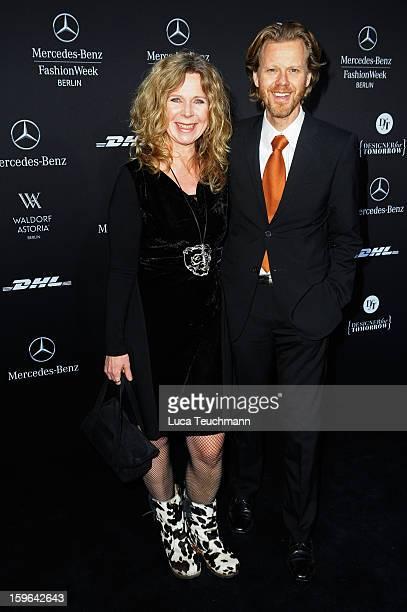 Marion Kracht and Bertold Manns attend Guido Maria Kretschmer Autumn/Winter 2013/14 fashion show during MercedesBenz Fashion Week Berlin at...