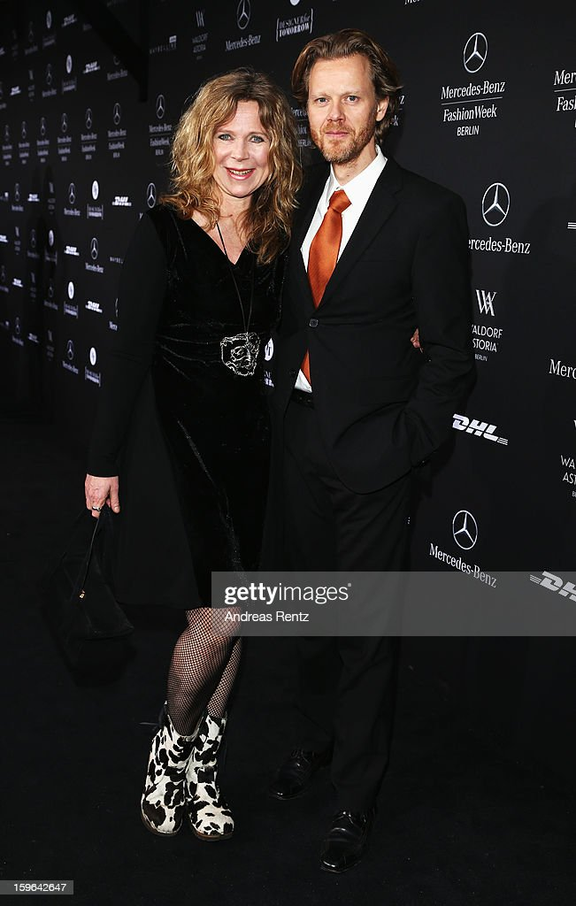 Marion Kracht and Bertold Manns attend Guido Maria Kretschmer Autumn/Winter 2013/14 fashion show during Mercedes-Benz Fashion Week Berlin at Brandenburg Gate on January 17, 2013 in Berlin, Germany.