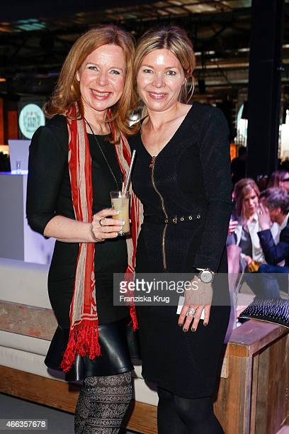 Marion Kracht and Tina IngwersenMatthiesen attend the Spirit of Istanbul by Yeni Raki on March 14 2015 in Berlin Germany
