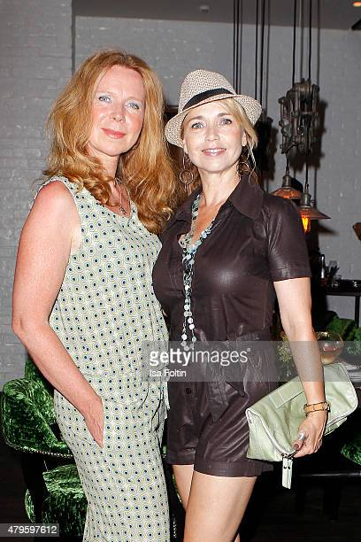 Marion Kracht and Tina Ruland attends the Wanawake Ladies Dinner at Hotel Zoo on July 05 2015 in Berlin Germany
