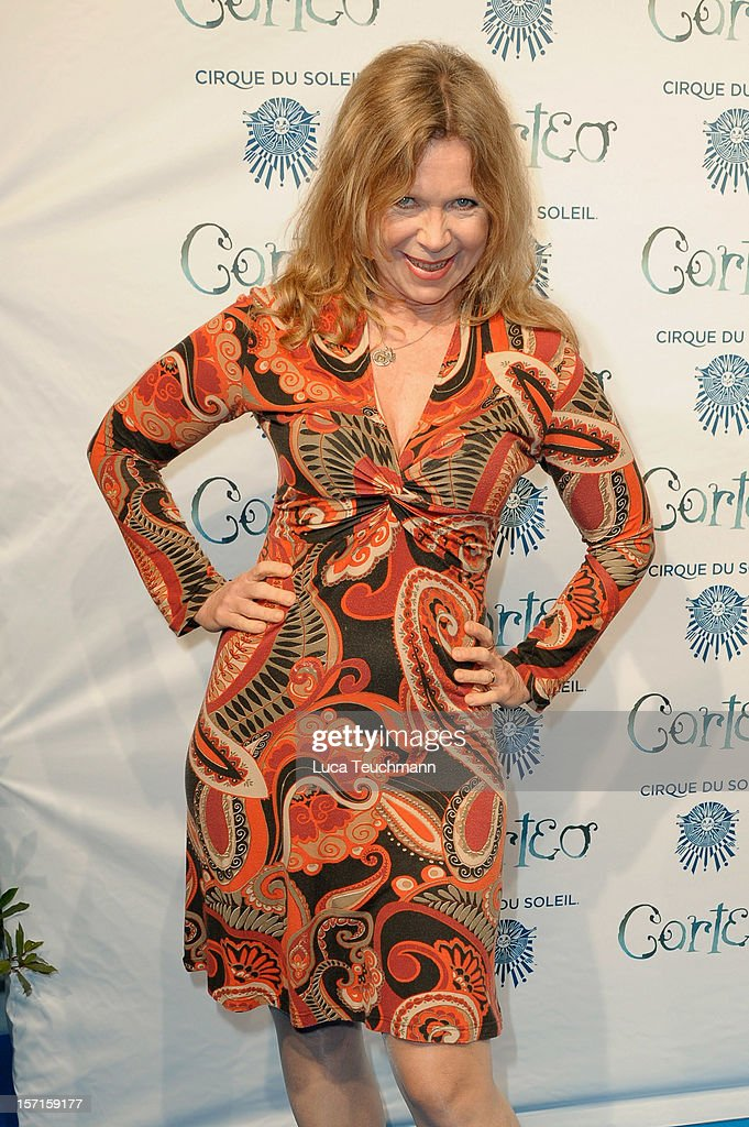 Marion Kracht attends the Cirque Du Soleil Germany Premiere at Corteo Berlin - Under the Grand Chapiteau on November 29, 2012 in Berlin, Germany.
