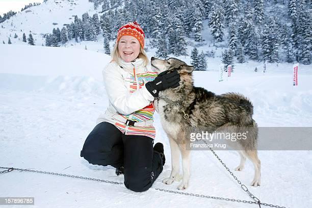 Marion Kracht attends the Tirol Cross Mountain Sledge Dog Race Training on December 07 in Kuehtai Austria