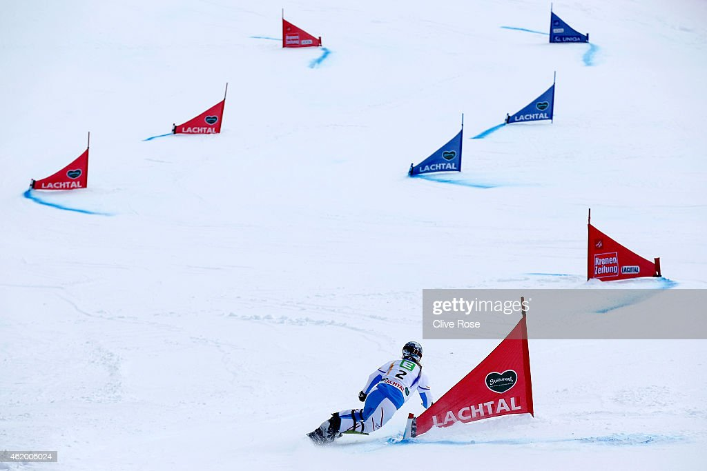 <a gi-track='captionPersonalityLinkClicked' href=/galleries/search?phrase=Marion+Kreiner&family=editorial&specificpeople=3071138 ng-click='$event.stopPropagation()'>Marion Kreiner</a> of Austria competes in the Women's Parallel Giant Slalom Finals during the FIS Freestyle Ski and Snowboard World Championships 2015 on January 23, 2015 in Lachtal, Austria.
