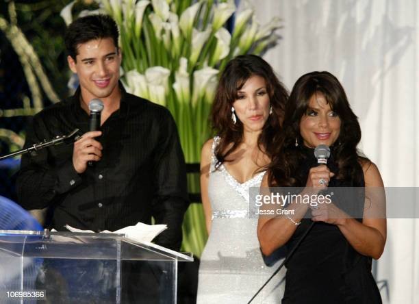Marion Lopez Adrianna Costa and Paula Abdul during 3rd Annual Alfred Mann Foundation Innovation and Inspiration Gala Honoring Richard and Nancy...