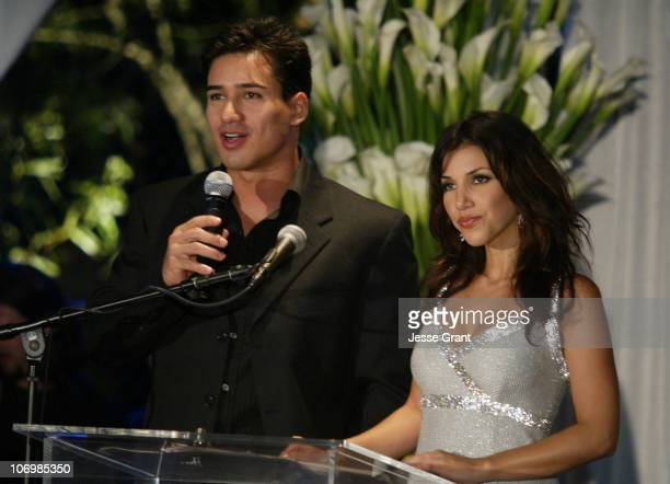 Marion Lopez and Adrianna Costa during 3rd Annual Alfred Mann Foundation Innovation and Inspiration Gala Honoring Richard and Nancy Riordan at Mann...