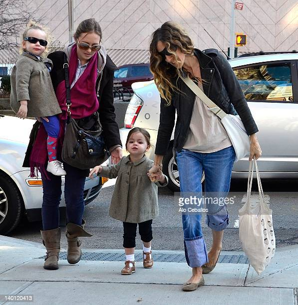 Marion Loretta Elwell Broderick Tabitha Hodge Broderick and Sarah Jessica Parker are seen at Streets of Manhattan on February 28 2012 in New York City