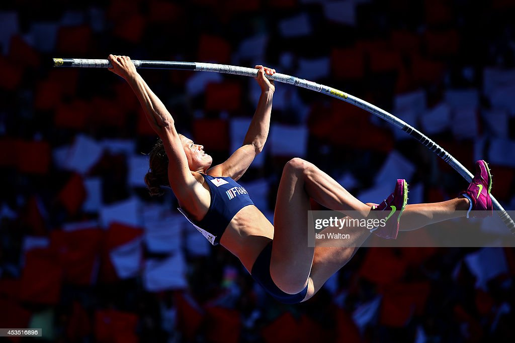 Marion Lotout of France competes in the Women's Pole Vault qualification during day one of the 22nd European Athletics Championships at Stadium Letzigrund on August 12, 2014 in Zurich, Switzerland.