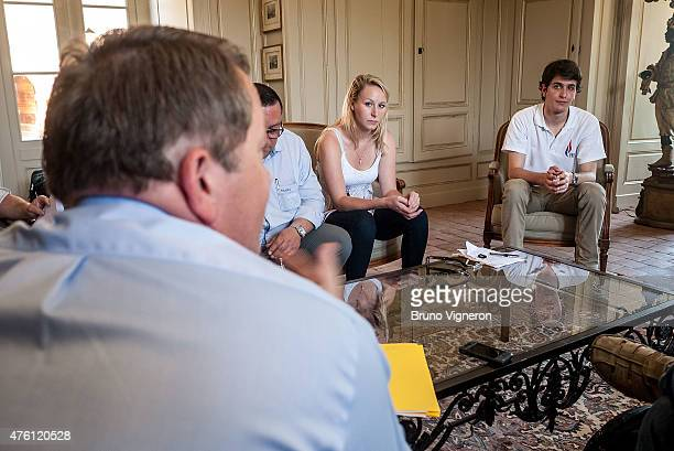 Marion Marechal Le Pen National Front Deputy of Vaucluse in ArssurFormans and Gatan Dussausaye National Front Youth Director to attend the kickoff of...