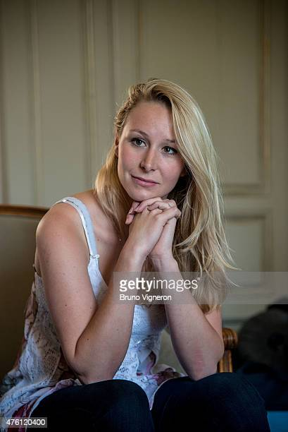 Marion Marechal Le Pen National Front Deputy of Vaucluse in ArssurFormans to attend the kickoff of National Front electoral campaign for presidence...
