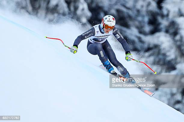 Marion Pellissier of France in action during the Audi FIS Alpine Ski World Cup Women's Downhill Training on January 20 2017 in GarmischPartenkirchen...